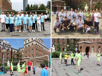 医院工会组织开展教职工排球比赛