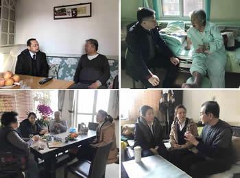 我院领导春节前走访慰问部分离退休老同志