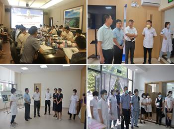我院與臨空經濟開發區三合庭苑衛生服務站開展托管調研座談會