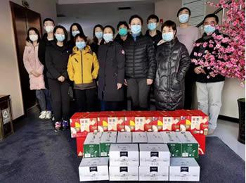 【战疫前线】院工会元旦期间慰问营口支援我院医疗队